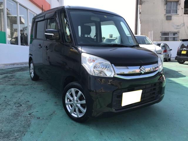 沖縄の中古車 スズキ スペーシア 車両価格 88万円 リ済込 2016(平成28)後 2.2万km ブラックM
