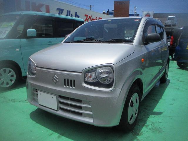 沖縄の中古車 スズキ アルト 車両価格 49万円 リ済込 2015(平成27)年 4.1万km シルバーM