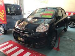 沖縄の中古車 日産 マーチ 車両価格 49万円 リ済込 平成22年 6.4万K ピュアブラックPM