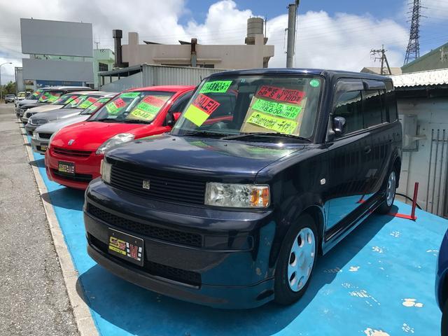 沖縄の中古車 トヨタ bB 車両価格 27万円 リ済込 平成17年 8.9万km ダークブルー