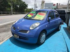 沖縄の中古車 日産 マーチ 車両価格 33万円 リ済込 平成19年 6.6万K ブルー