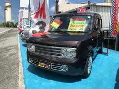 沖縄の中古車 日産 キューブ 車両価格 37万円 リ済込 平成19年 7.4万K ブラウン