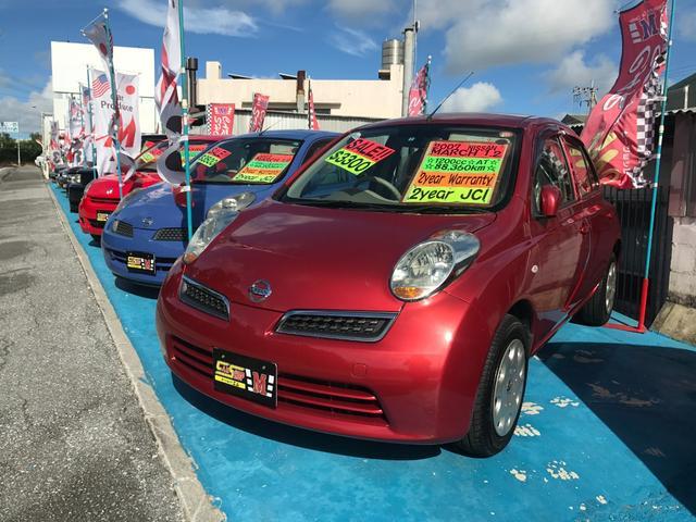 沖縄の中古車 日産 マーチ 車両価格 32万円 リ済込 平成19年 8.9万km レッド