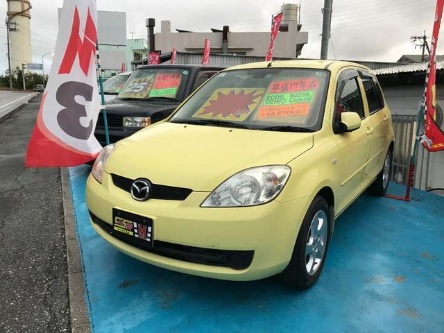 沖縄の中古車 マツダ デミオ 車両価格 23万円 リ済別 平成17年 6.9万km ハニーイエロー