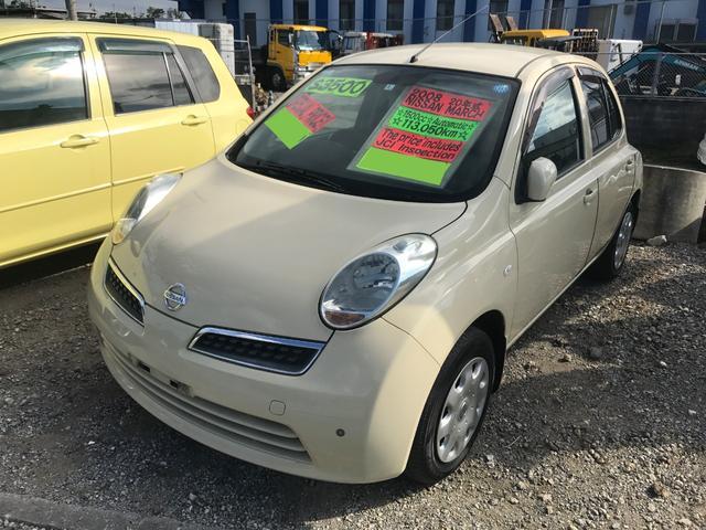 沖縄の中古車 日産 マーチ 車両価格 23万円 リ済別 平成20年 11.3万km ベージュ