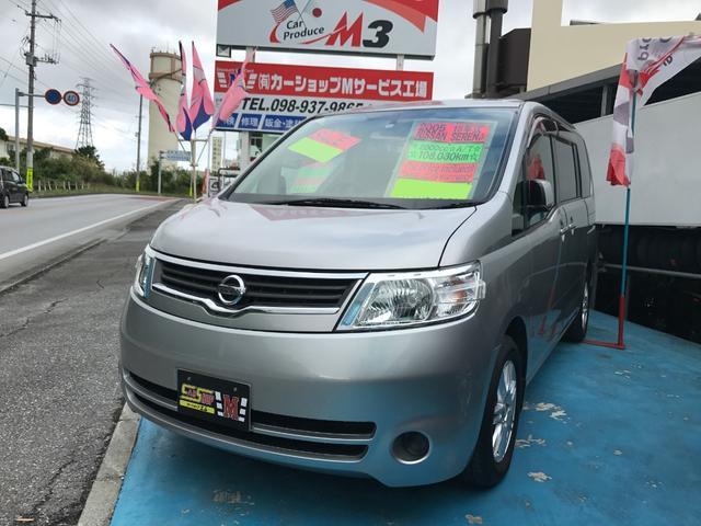 沖縄の中古車 日産 セレナ 車両価格 33万円 リ済別 平成18年 10.8万km シルバー