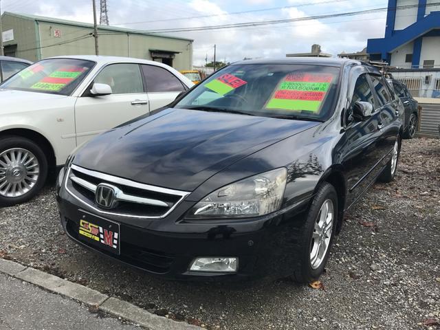 沖縄の中古車 ホンダ インスパイア 車両価格 43万円 リ済別 平成18年 10.4万km ナイトホークブラックパール