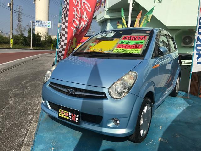 沖縄の中古車 スバル R2 車両価格 15万円 リ済別 2006(平成18)年 8.8万km ライトブルー