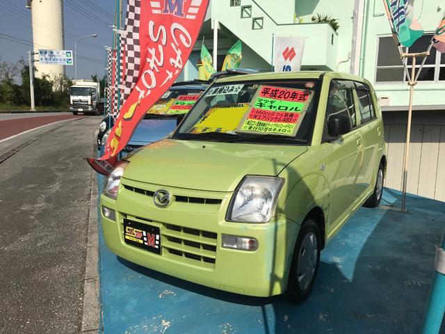 沖縄の中古車 マツダ キャロル 車両価格 15万円 リ済別 平成20年 10.6万km グリーン