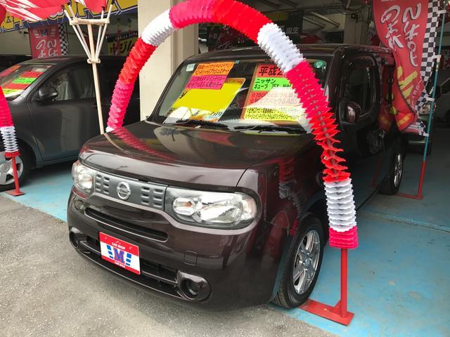 沖縄の中古車 日産 キューブ 車両価格 45万円 リ済別 平成23年 9.7万km ビターショコラP