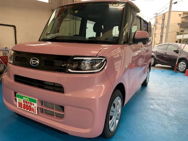 タント(沖縄 中古車) 色:ピンク 価格:146.3万円 年式:新車 走行距離: