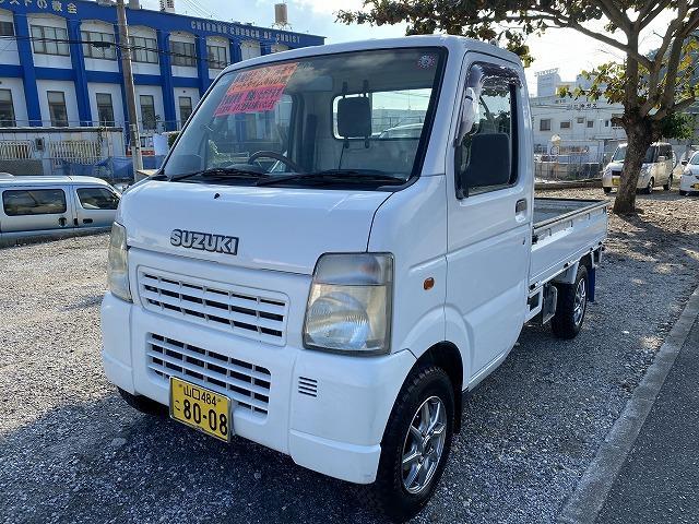 沖縄の中古車 スズキ キャリイトラック 車両価格 33万円 リ済込 2002(平成14)年 17.3万km ホワイト