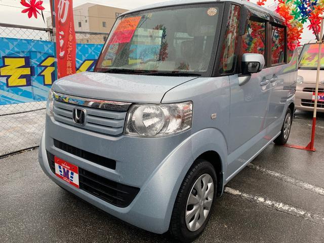 沖縄の中古車 ホンダ N-BOX+ 車両価格 47万円 リ済込 2012(平成24)年 8.7万km ライトブルー