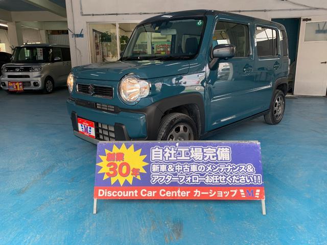 沖縄県の中古車ならハスラー ハイブリッドG 純正9インチナビ セーフティサポート搭載 展示車