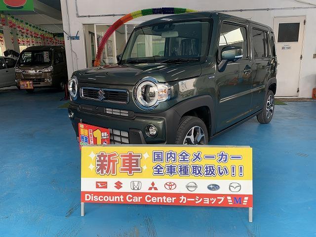 沖縄県の中古車ならハスラー ハイブリッドX 全方位モニター9インチナビ装着 展示車