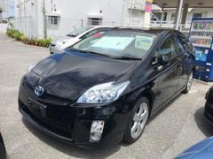 沖縄の中古車 トヨタ プリウス 車両価格 115万円 リ済別 平成23年 7.4万K ブラック
