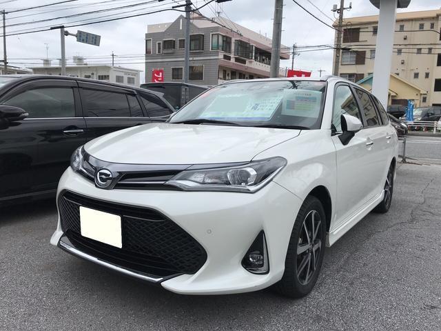 沖縄の中古車 トヨタ カローラフィールダー 車両価格 205万円 リ済別 平成30年 1.0万km パールホワイト