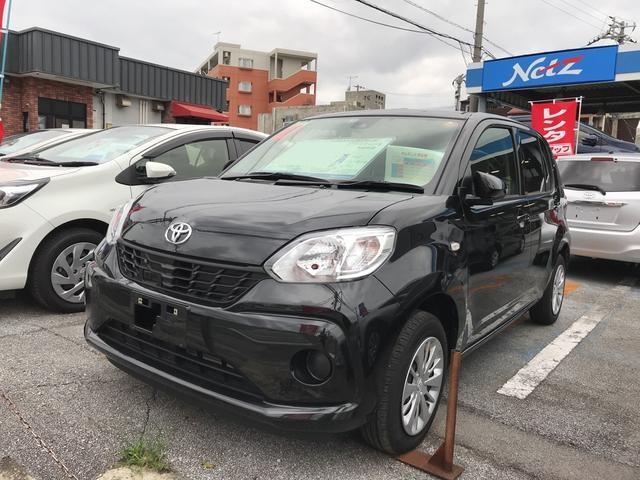 沖縄の中古車 トヨタ パッソ 車両価格 122万円 リ済別 平成30年 0.5万km ブラック