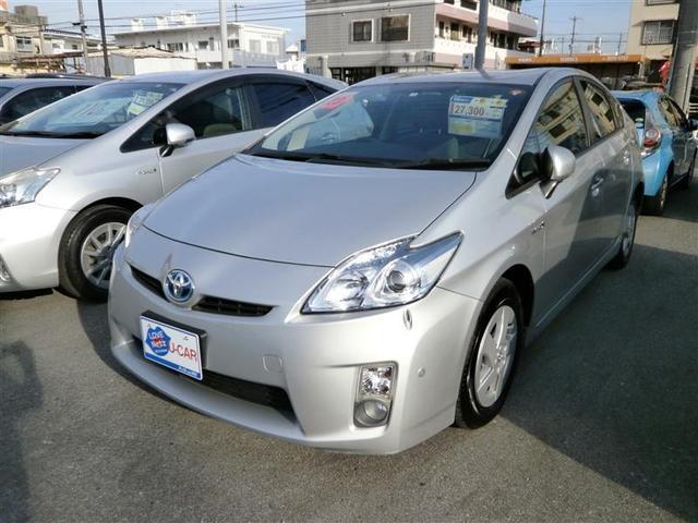沖縄の中古車 トヨタ プリウス 車両価格 99万円 リ済別 2011(平成23)年 4.5万km シルバー