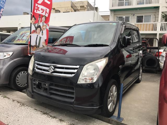 沖縄の中古車 スズキ ワゴンR 車両価格 34万円 リ済込 2009(平成21)年 12.8万km ブラック