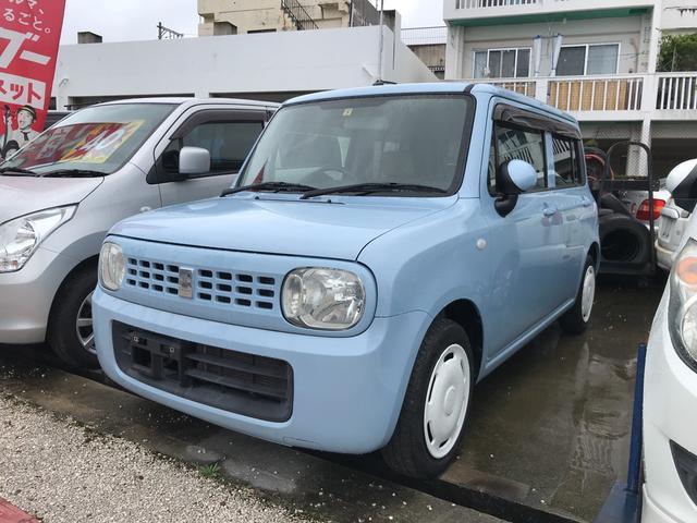 沖縄の中古車 スズキ アルトラパン 車両価格 33万円 リ済込 2009(平成21)年 9.6万km ライトブルー