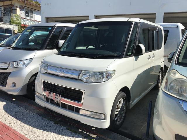 沖縄の中古車 ダイハツ タント 車両価格 44万円 リ済込 2010(平成22)年 12.1万km パールホワイト