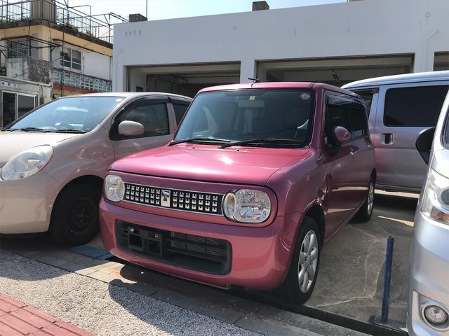 沖縄の中古車 スズキ アルトラパン 車両価格 37万円 リ済込 2012(平成24)年 9.0万km ピンク
