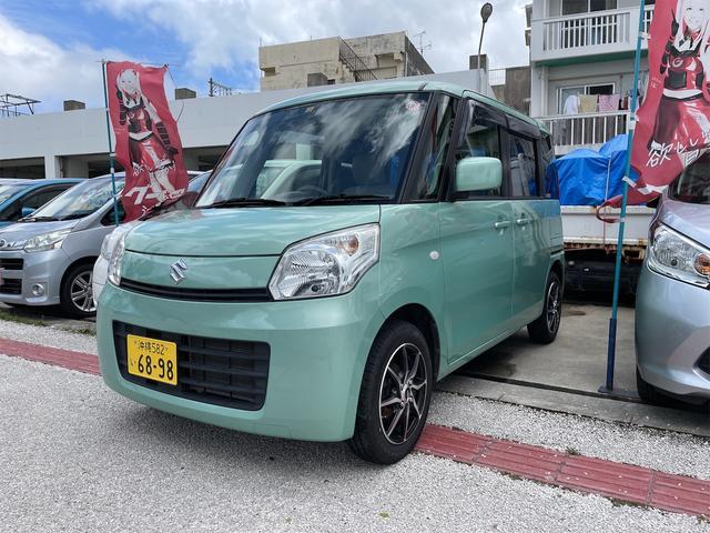沖縄県うるま市の中古車ならスペーシア X ETC・プッシュスタート・左オートスライドドア・社外ナビ・後席モニタ不良