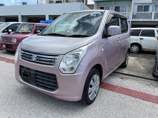 沖縄の中古車 スズキ ワゴンR 車両価格 38万円 リ済込 2013(平成25)年 6.5万km ピンク