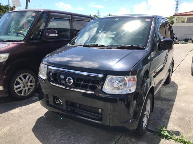 沖縄の中古車 日産 オッティ 車両価格 19万円 リ済込 2011(平成23)年 10.2万km ブラックP