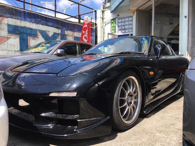 沖縄の中古車 マツダ RX-7 車両価格 98万円 リ済込 平成10年 走不明 ブラックM