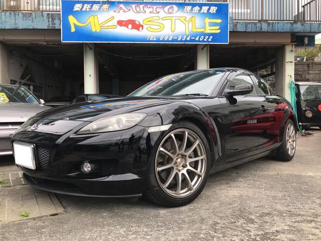 沖縄の中古車 マツダ RX-8 車両価格 98万円 リ済込 2007(平成19)年 11.0万km ブリリアントブラック
