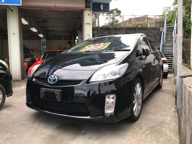 沖縄の中古車 トヨタ プリウス 車両価格 68万円 リ済込 2011(平成23)年 18.4万km ブラック