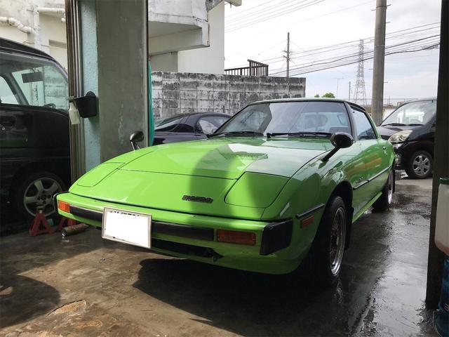 沖縄の中古車 マツダ サバンナRX-7 車両価格 189万円 リ済別 1978(昭和53)年 9.2万km グリーンM