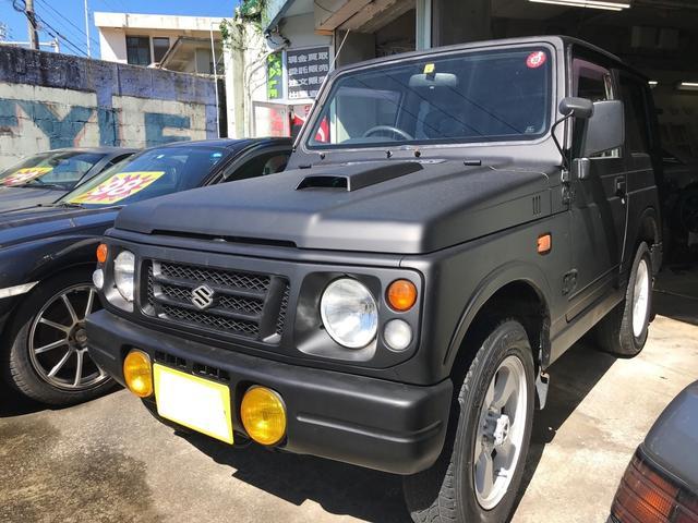 沖縄の中古車 スズキ ジムニー 車両価格 39万円 リ済込 1996(平成8)年 25.1万km マットブラック