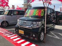 沖縄の中古車 ホンダ N BOXカスタム 車両価格 112万円 リ済別 平成24年 5.2万K ブラック