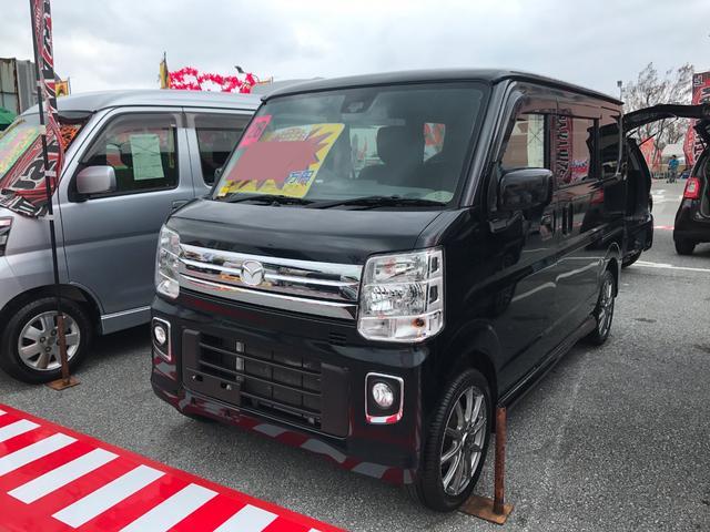 沖縄の中古車 マツダ スクラムワゴン 車両価格 114万円 リ済別 平成28年 5.6万km ブラック
