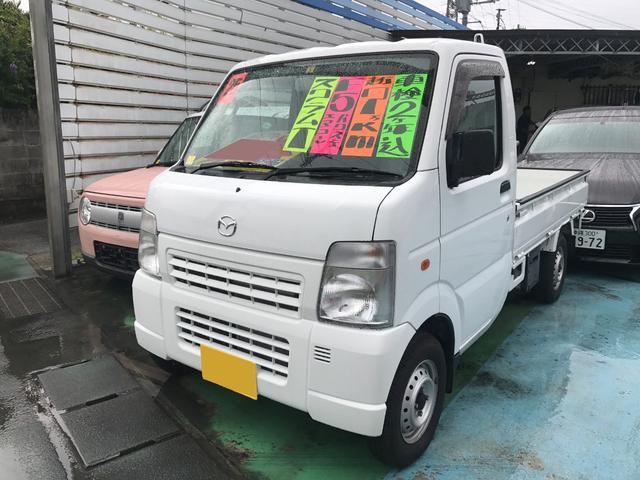 沖縄の中古車 マツダ スクラムトラック 車両価格 46万円 リ済別 平成25年 7.1万km ホワイト