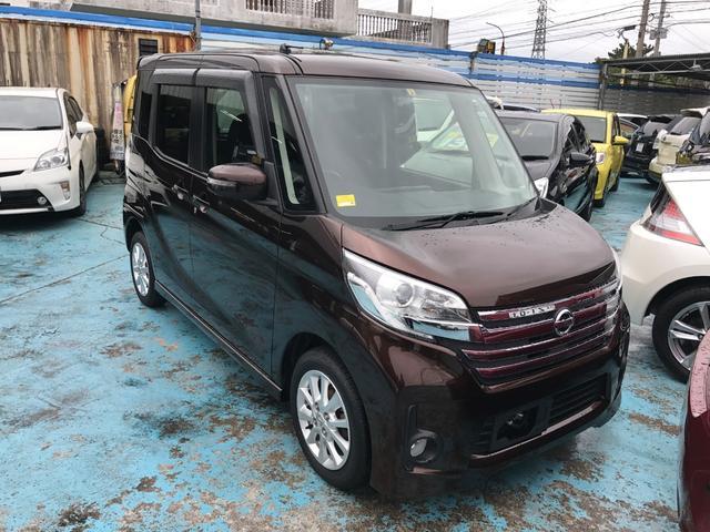 沖縄の中古車 日産 デイズルークス 車両価格 99万円 リ済別 平成26年 3.8万km ブラウン