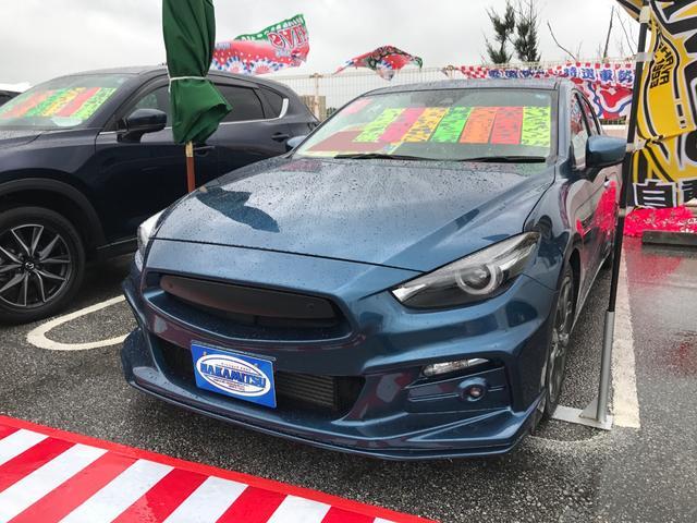 沖縄の中古車 マツダ アクセラスポーツ 車両価格 158万円 リ済別 2016(平成28)年 3.4万km ブルー
