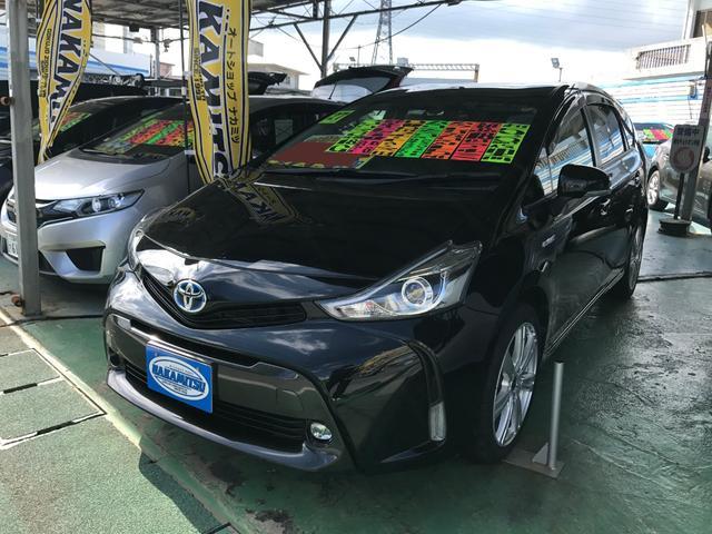 沖縄の中古車 トヨタ プリウスアルファ 車両価格 159万円 リ済別 2015(平成27)後 5.6万km ブラック