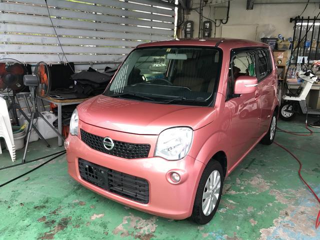 沖縄の中古車 日産 モコ 車両価格 66万円 リ済別 2014(平成26)年 4.9万km ピンク