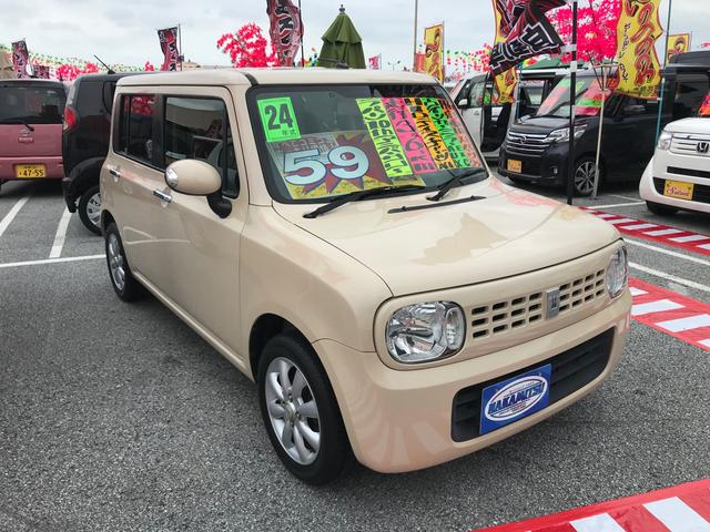 沖縄の中古車 スズキ アルトラパン 車両価格 54万円 リ済別 2012(平成24)年 3.6万km ベージュ