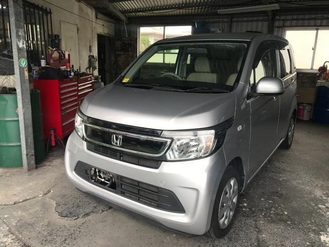 沖縄の中古車 ホンダ N-WGN 車両価格 64万円 リ済別 2014(平成26)年 4.3万km シルバー