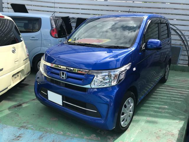 沖縄の中古車 ホンダ N-WGN 車両価格 83万円 リ済別 2018(平成30)年 3.1万km ブルー