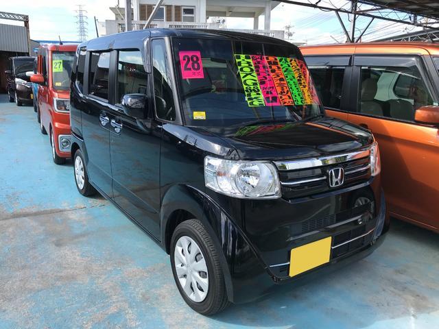 沖縄の中古車 ホンダ N-BOX 車両価格 95万円 リ済別 2016(平成28)年 4.8万km ブラック