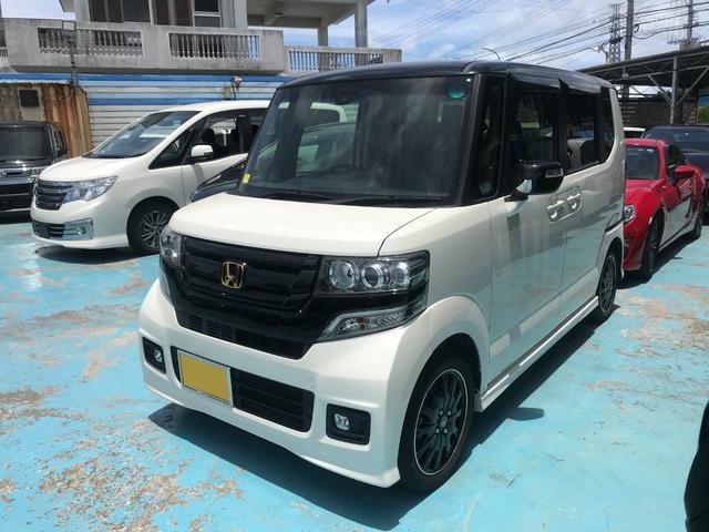沖縄の中古車 ホンダ N-BOXカスタム 車両価格 126万円 リ済別 2017(平成29)年 4.0万km パールII