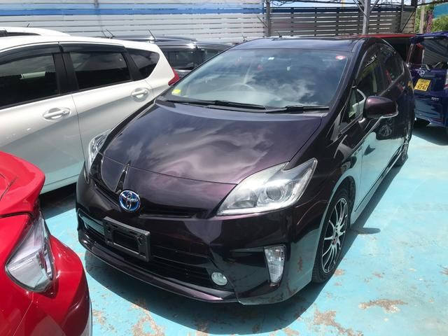 沖縄の中古車 トヨタ プリウス 車両価格 88万円 リ済別 2012(平成24)年 6.9万km パープル