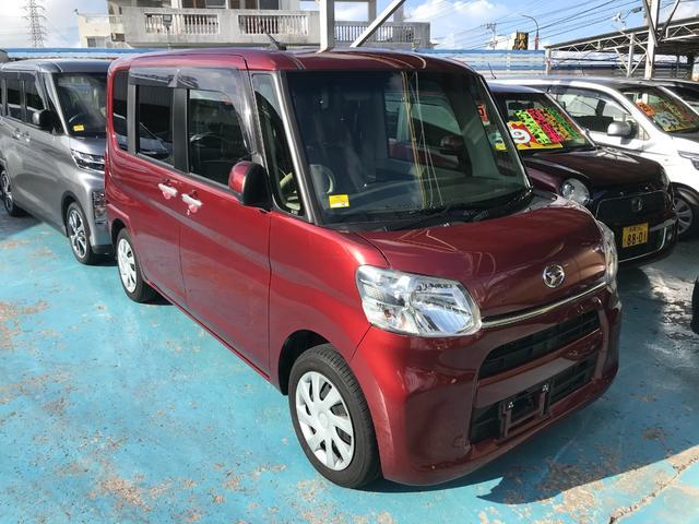 沖縄の中古車 ダイハツ タント 車両価格 104万円 リ済別 2017(平成29)年 2.8万km ワイン