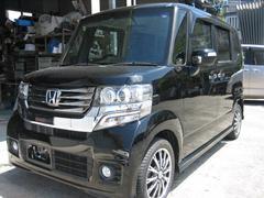 沖縄の中古車 ホンダ N BOXカスタム 車両価格 89万円 リ済込 平成25年 11.3万K ブラック